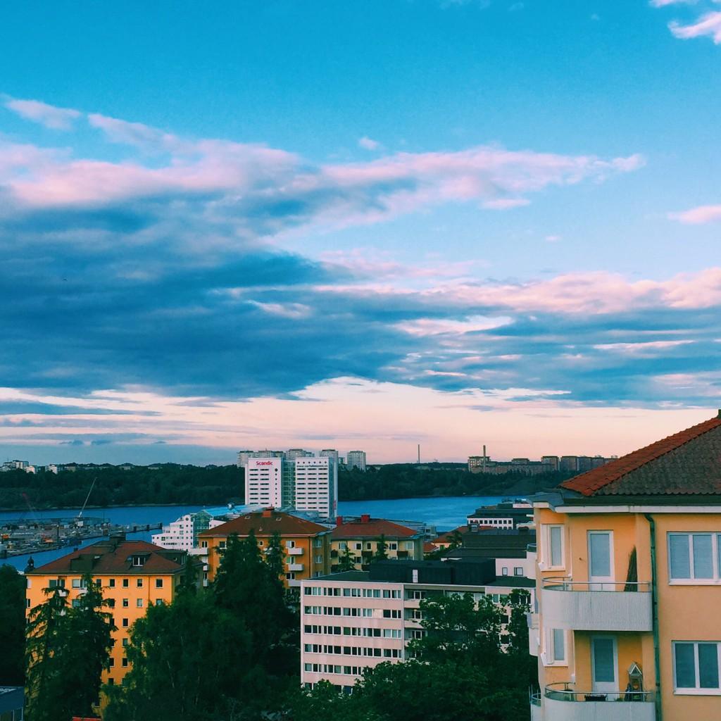 Utsikten från lägenheten på Gärdet