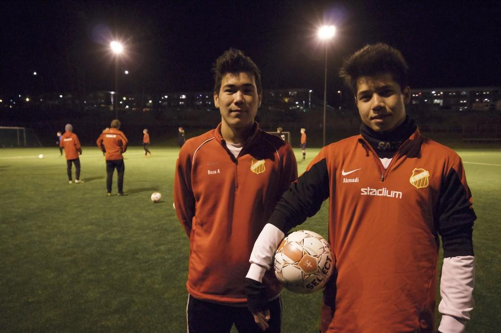 Gholam Reza och Reza tränar ofta med varandras klubblag.